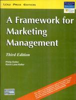 Framework for Marketing Management PDF