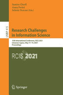 Research Challenges in Information Science: Information Science and Global Crisis