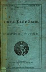 The Cincinnati Lancet and Observer PDF