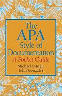 The APA Style of Documentation