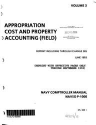 Navy Comptroller Manual  Appropriation cost and property accounting  field  PDF