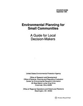 Environmental Planning for Small Communities PDF