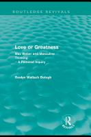 Love Or Greatness  Routledge Revivals  PDF