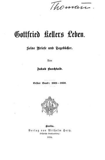 Gottfried Kellers Leben PDF