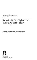 The Longman Companion to Britain in the Eighteenth Century  1688 1820 PDF