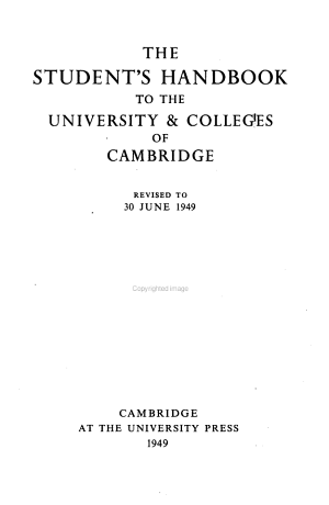 The Student s Handbook to the University and Colleges of Cambridge PDF