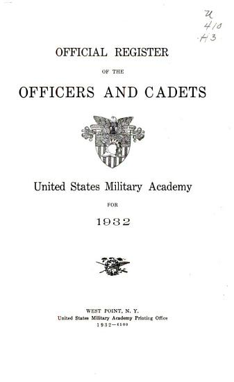 Official Register of the Officers and Cadets PDF