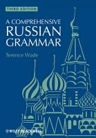 A Comprehensive Russian Grammar PDF