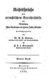 Rechtssprüche der preußischen Gerichtshöfe: Band 4