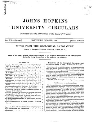 The Johns Hopkins University Circular