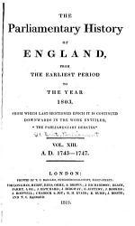 Cobbett S Parliamentary History Of England Book PDF