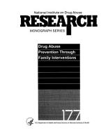 Drug Abuse Prevention Through Family Interventions PDF