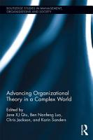 Advancing Organizational Theory in a Complex World PDF