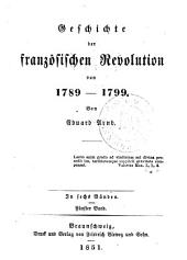 Geschichte der französischen revolution von 1789-1799: Band 5