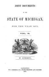 Joint Documents of the State of Michigan: Volume 2