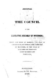 Journal of the Council of the Legislative Assembly of Wisconsin