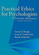 Practical Ethics for Psychologists PDF