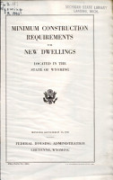 Minimum Construction Requirements for New Dwellings Located in Wyoming      Cheyenny  Wyoming PDF