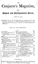 The Astrologer's Magazine, and Philosophical Miscellany