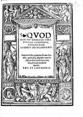 Qvod Non Sit Onerosa Christianis confessio, Paradoxon Ioannis Oecolampadii