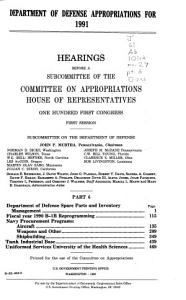 Department of Defense Appropriations for 1991 PDF