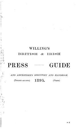 Willings s  late May s  British   Irish Press Guide PDF