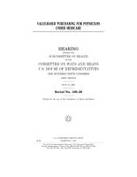 Valuebased purchasing for physicians under Medicare   hearing before the Subcommittee on Health of the Committee on Ways and Means  U S  House of Representatives  One Hundred Ninth Congress  first session  July 21  2005  PDF