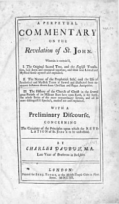 A Perpetual Commentary on the Revelation of St  John  Wherein is Contain d PDF