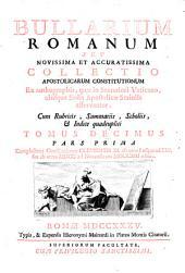 Pars Prima Complectens Constitutiones ab Innocentio XI. editas: 10