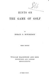 Hints on the Game of Golf