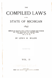 The compiled laws of the state of Michigan, 1897: Volume 2