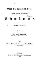 Prof. Dr. Harald O. Lenz' Nützliche, schädliche und verdächtige Schwämme