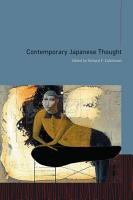 Contemporary Japanese Thought PDF