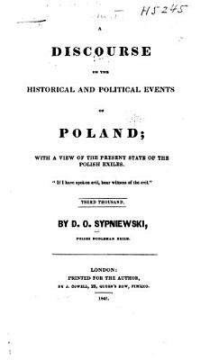 A Discourse on the Historical and Political Events of Poland PDF