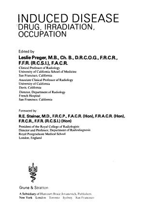 Induced Disease  Drug  Irradiation  Occupation PDF