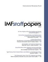 IMF Staff Papers  Volume 50  No  1  2003 PDF