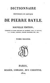 Dictionnaire historique et critique de Pierre Bayle: Volume2