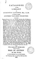 Catalogues of Items for Sale by Auction by Mr  Evans  1810 1840 PDF
