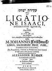 De ligatione Isaaci, dissertatio quarta