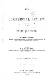 De Bow's Commercial Review of the South & West: Volumes 7-8