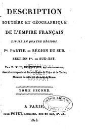 Description routière et géographique de l'empire Français divisé en quatre régions: Volume7