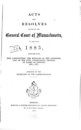 Acts and Resolves Passed by the General Court PDF