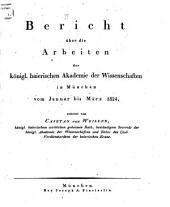 Bericht über die Arbeiten der Königlichen Baier. Akademie der Wissenschaften in München: Band 2
