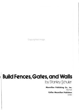 How to Build Fences  Gates  and Walls PDF