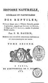 """Histoire naturelle, générale et particulière, des reptiles: ouvrage faisant suite à l'""""Histoire naturelle générale et particulière"""", composée par Leclerc de Buffon, et rédigée par C. S. Sonnini, Volume66"""