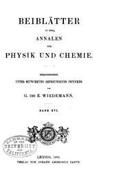 Annalen der Physik: Beiblätter, Band 16