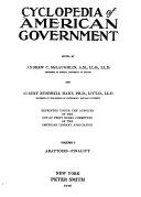 Cyclopedia of American Government  Abattoirs Finality  v  2  Finance Presentment  v  3  President Yukon Book