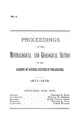 Proceedings of the Mineralogical and Geological Section