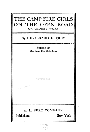 The Camp Fire Girls on the Open Road PDF