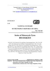 GB/T 2983-2008: Translated English of Chinese Standard. (GBT 2983-2008, GB/T2983-2008, GBT2983-2008): Series of motorcycle tyres.